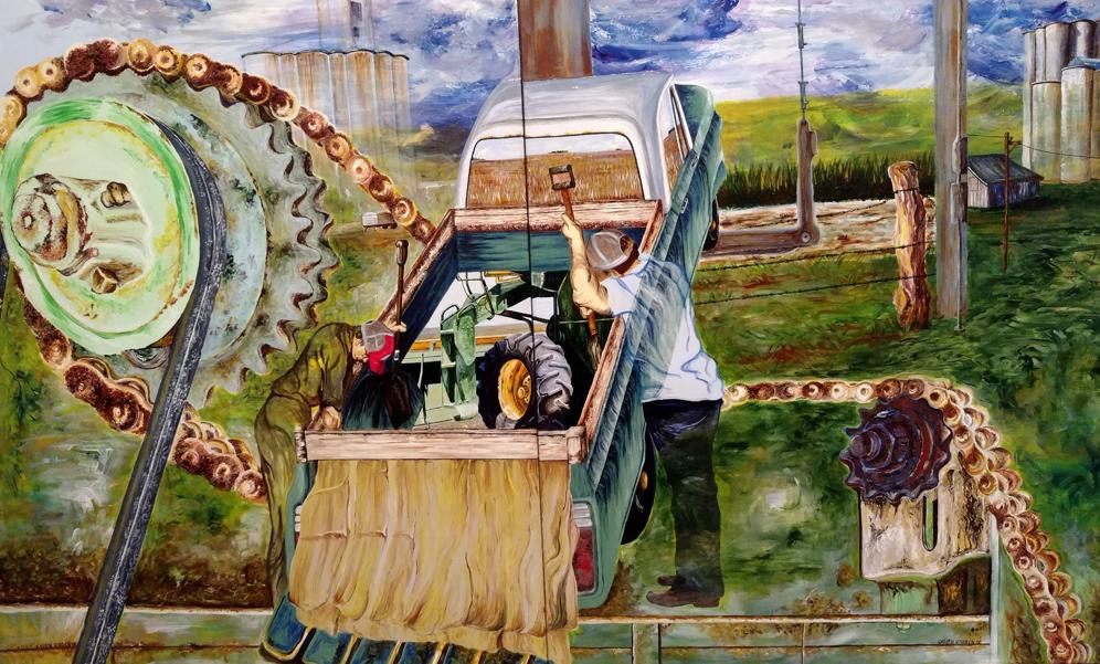 farm, machinery, truck, work, labor