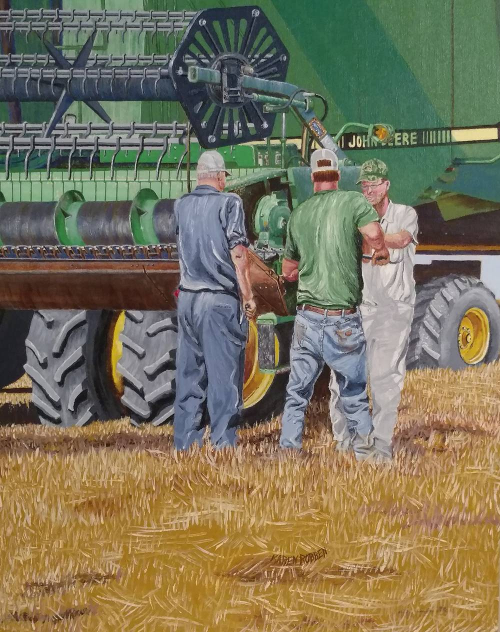 farm, harvest, combine, equipment, crop, wheat, tractor